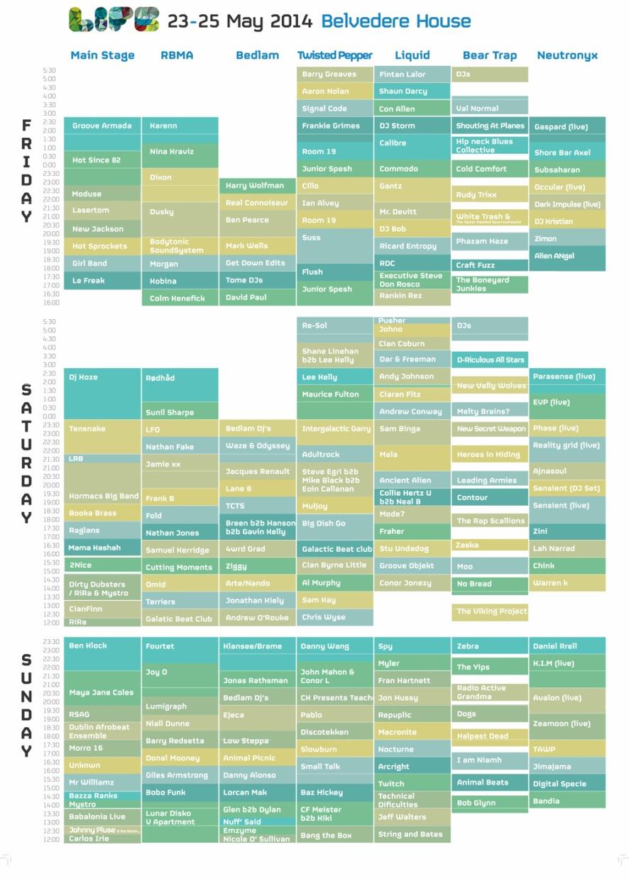 Life Festival 2014 timetable