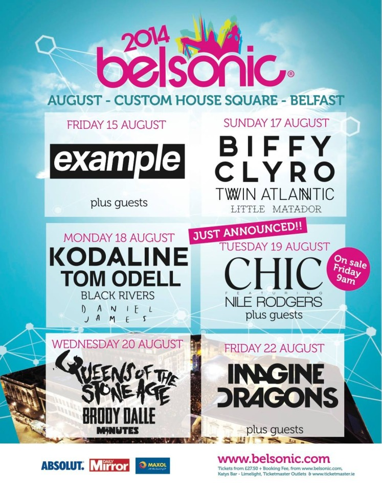 Belsonic 2014 line-up