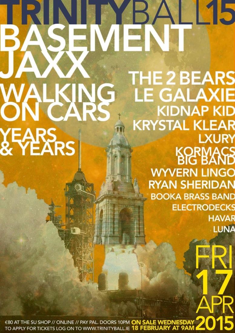 Trinity Ball 2015 poster
