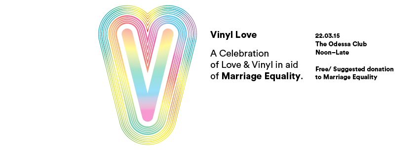 Vinyl Love in aid of Marriage Equality poster