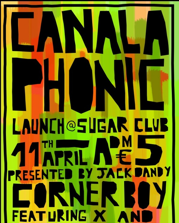 Canalaphonic launch party poster