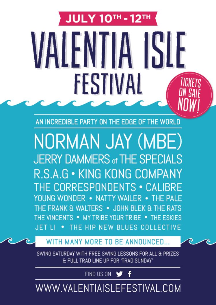 First.Wave.line.up.poster.Valentia.Isle.Festival
