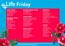 Life Festival 2015  - Friday timetable