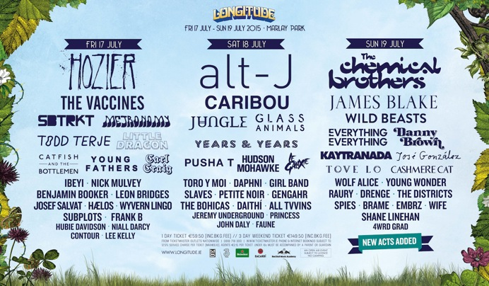 Longitude 2015 day to day breakdown
