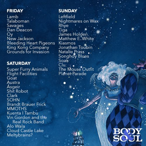 Listen | TLMT's 20 must see acts at Body & Soul 2015