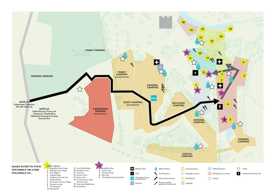 Body&Soul 2015 map