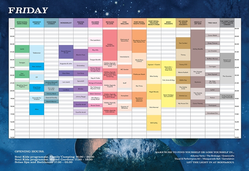 Body & Soul 2015 timetable & sitemap revealed – The Last