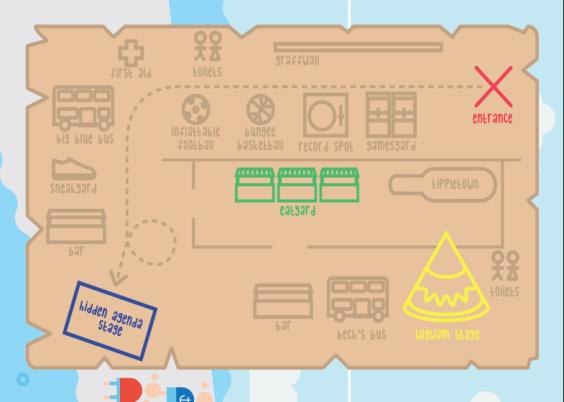 The Beatyard 2015 map