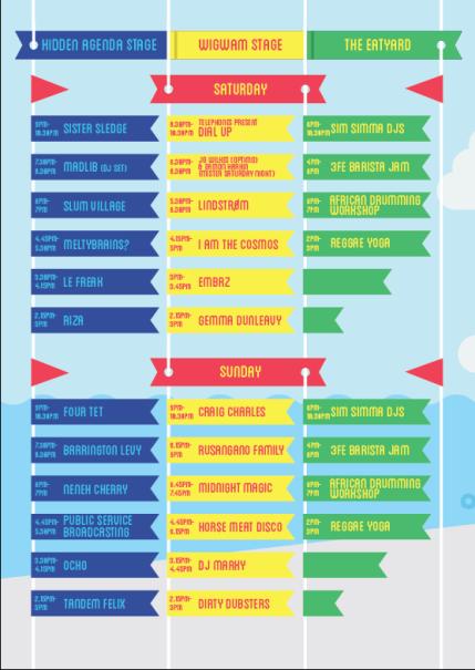 The Beatyard 2015 timetable