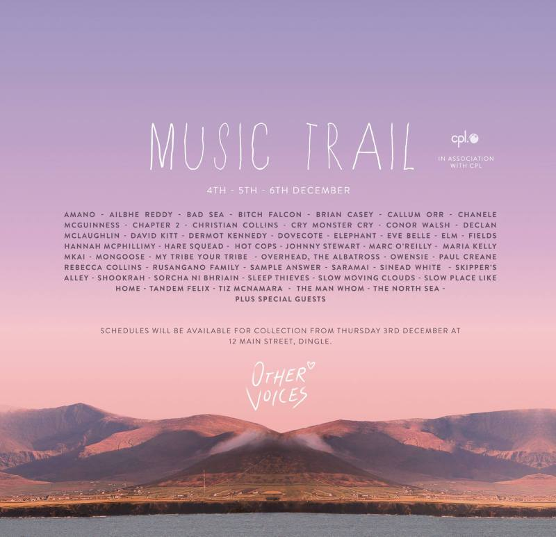 Other Voices 2015 music trail poster