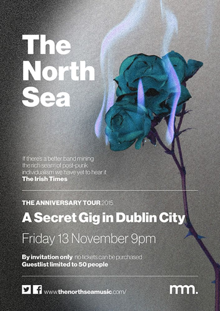 The North Sea secret Dublin gig poster