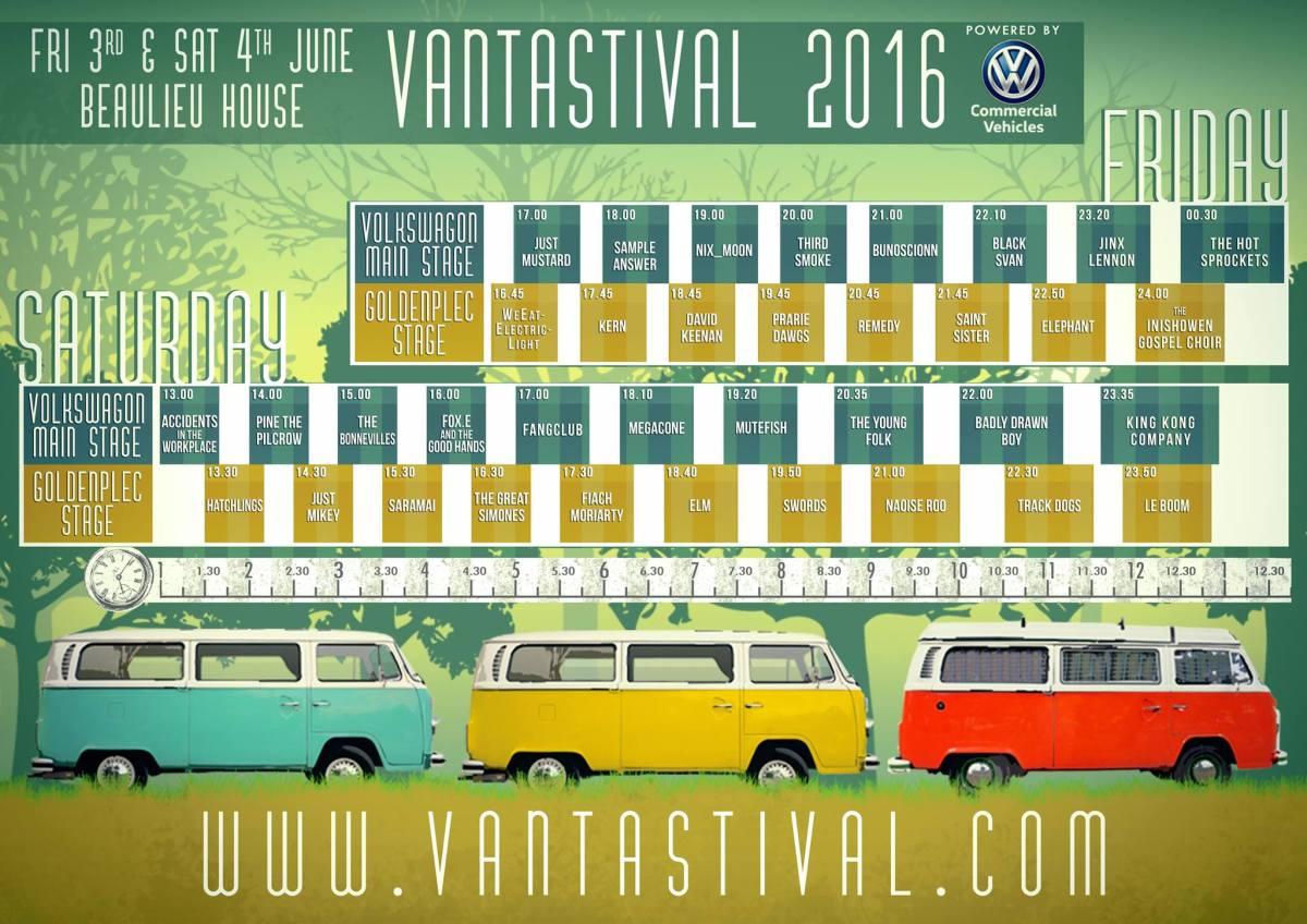 Vantastival 2016 timetable