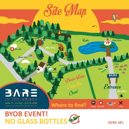 BARE in the Woods 2016 Site Map