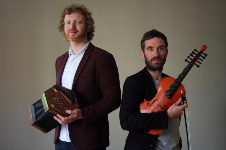 Caoimhín Ó Raghallaigh and Cormac Begley high res .JPG