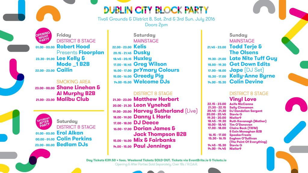DCBP Stage Times