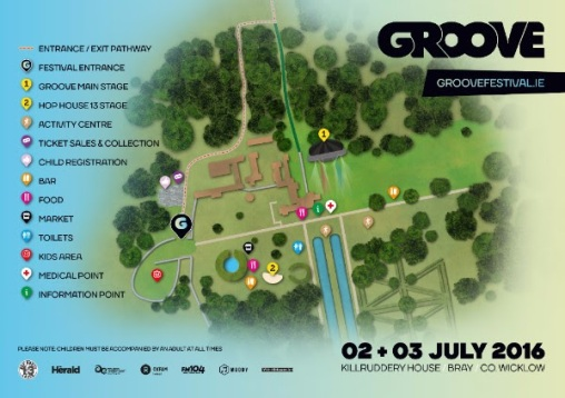 Groove Festival Killruddy House map