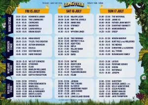 Longitude festival stage times