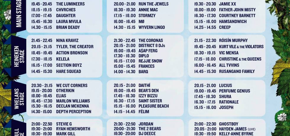 Longitude festival stage times