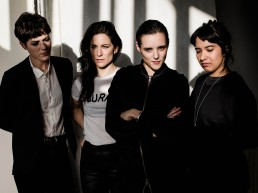 Savages are a London-based post-punk revival rock band, formed in 2011. Their debut album, Silence Yourself, reached number 19 in the UK Albums Chart in May 2013 Members: L-R Gemma Thompson Fay Milton Jehnny Beth Ayse Hassan