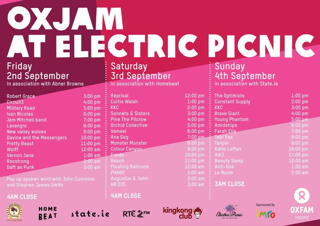 Electric Picnic 2016 Oxjam