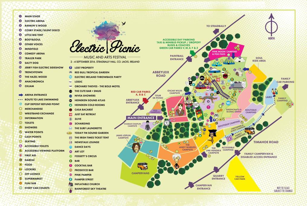 Electric Picnic 2016 site map