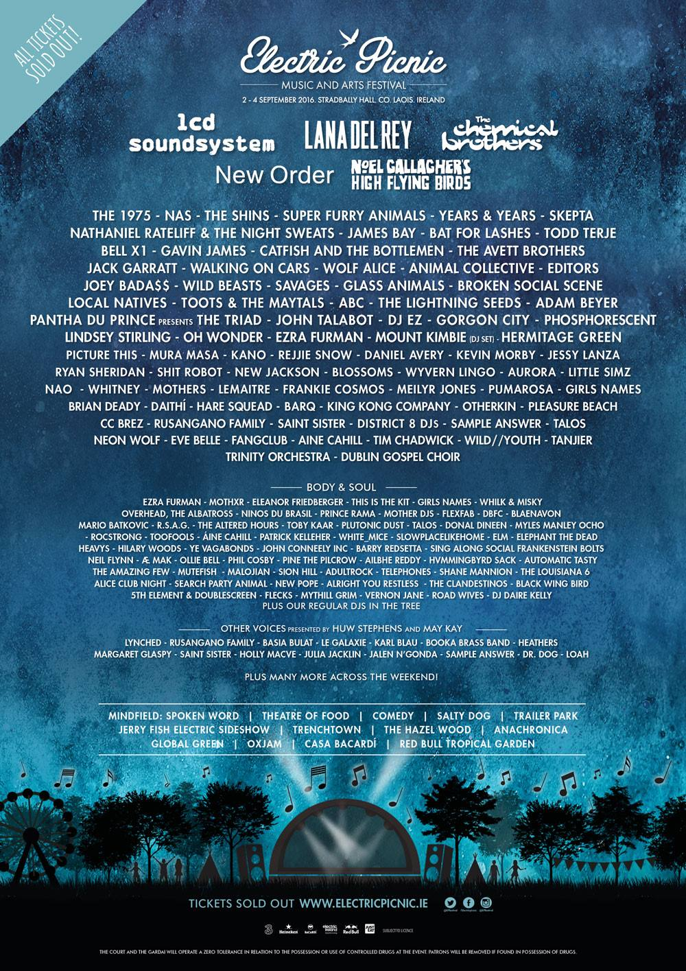 Electric Picnic 2016 line-up