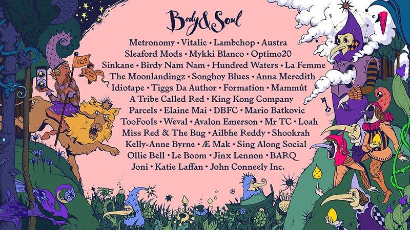 Body &b Soul 2017 line-up