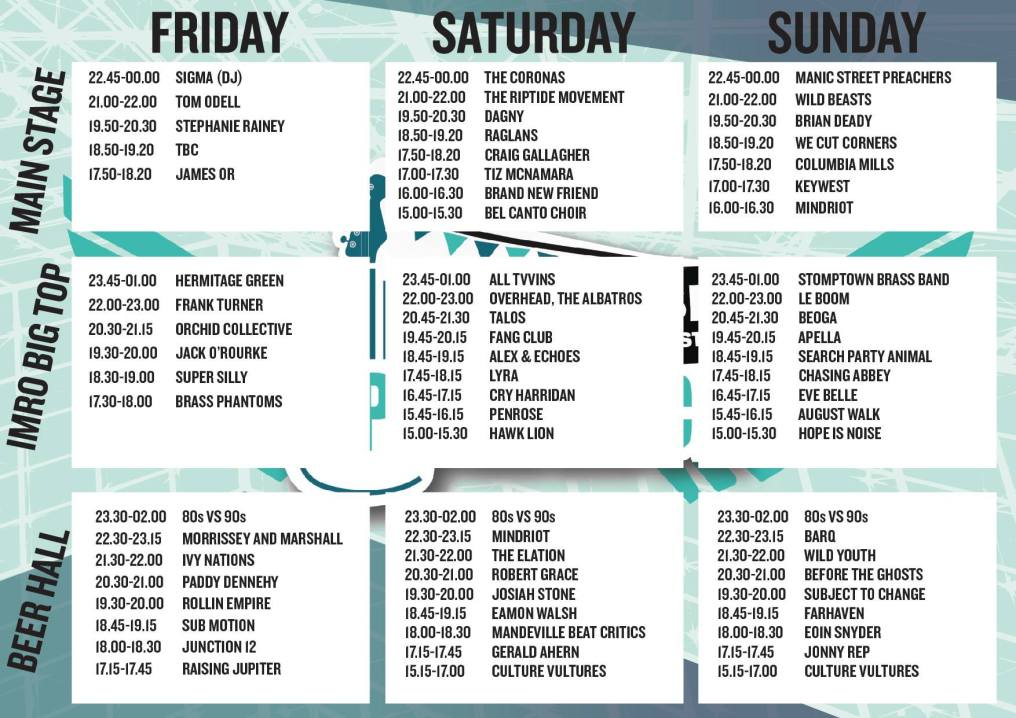 Indiependence 2017 stage times