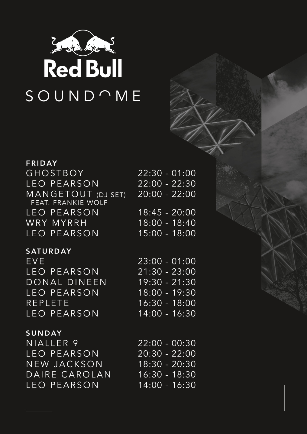 Red Bull Soundome STAGE TIMES