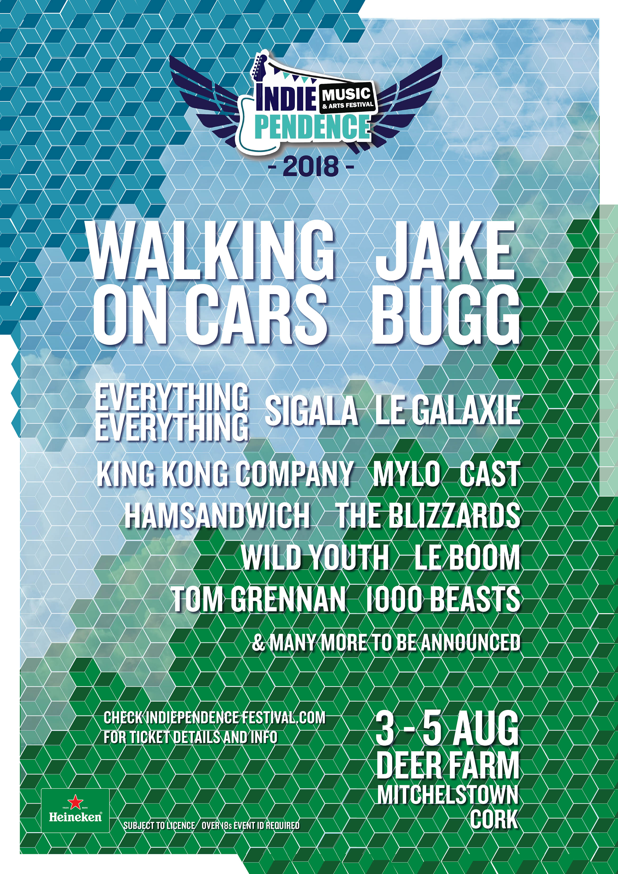 Indiependence 2018 | First acts announced including Everything Everything, Jake Bugg, Le Boom & more