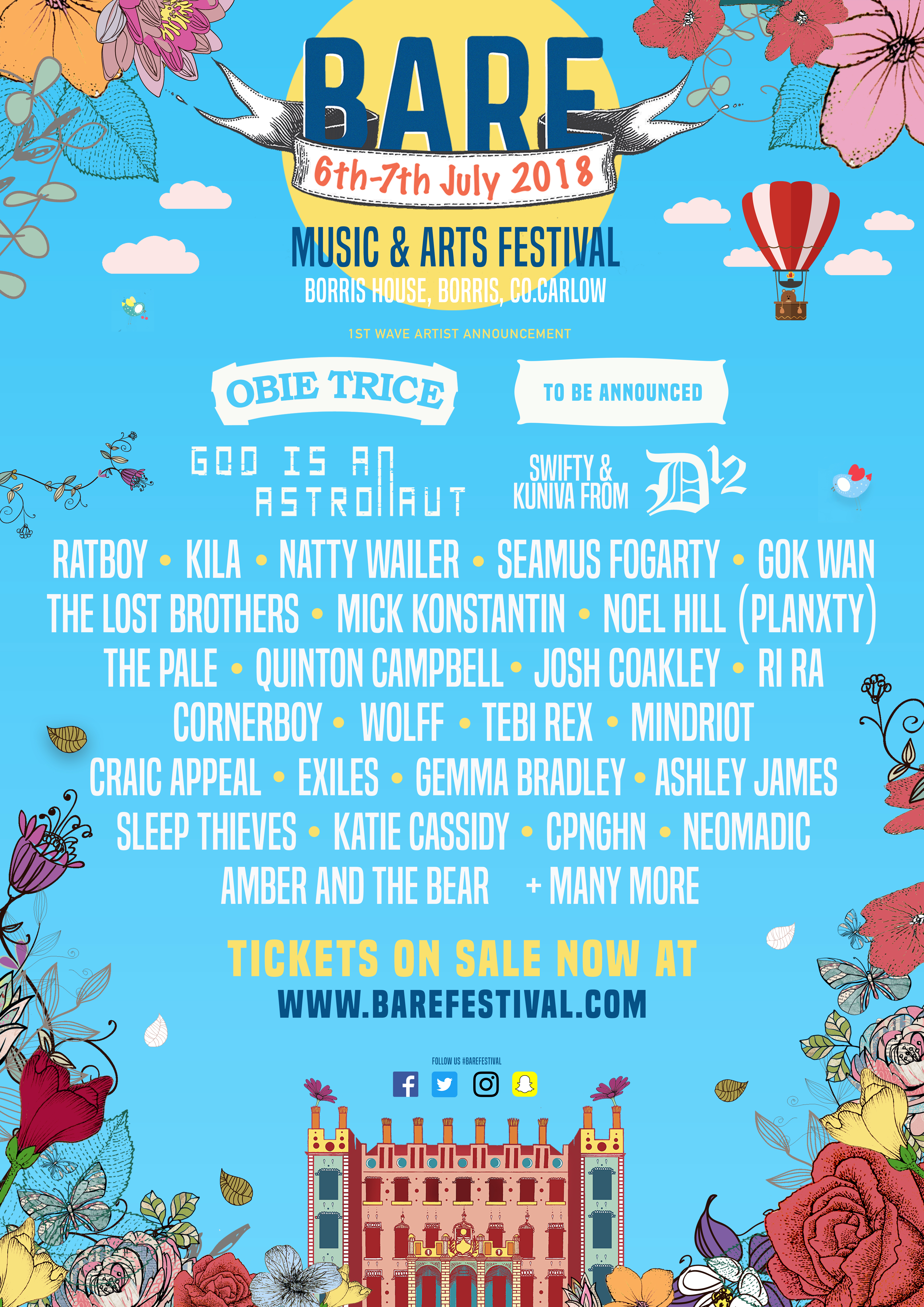 BARE returns with Tebi Rex, Seamus Fogarty, Sleep Thieves & more announced