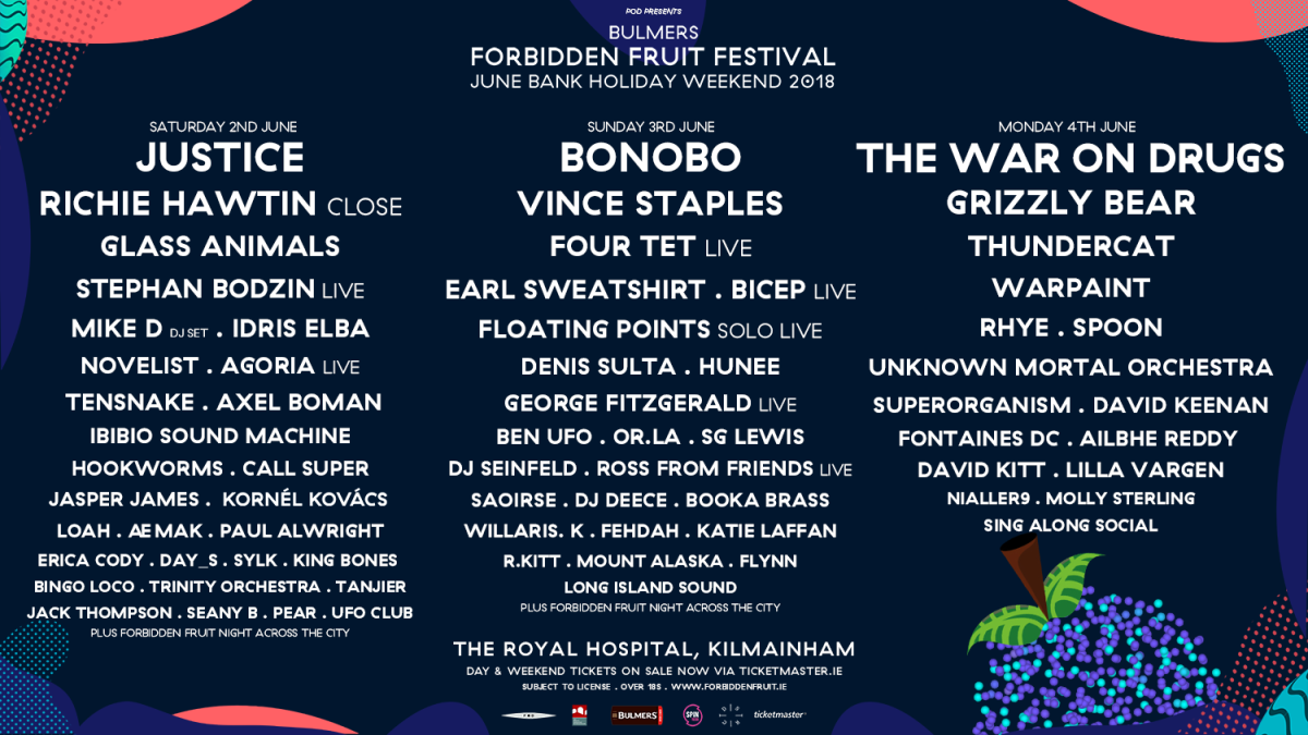 Forbidden Fruit 2018 Day-To-Day Breakdown Announced