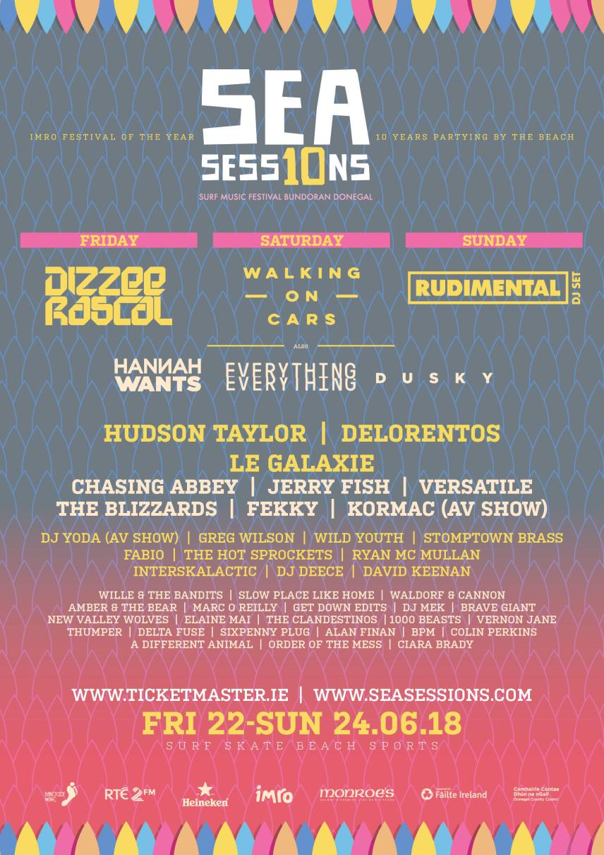 Sea Sessions 2018 Poster