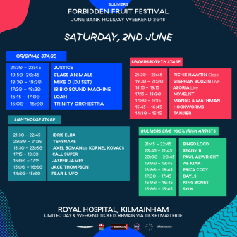 FF Saturday - Stage Times