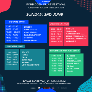 FF Sunday - Stage Times