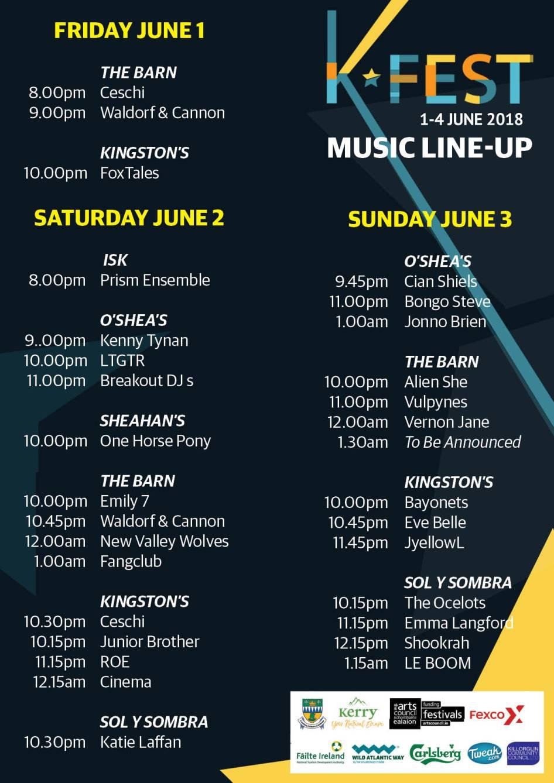 K-Fest 2018 timetable