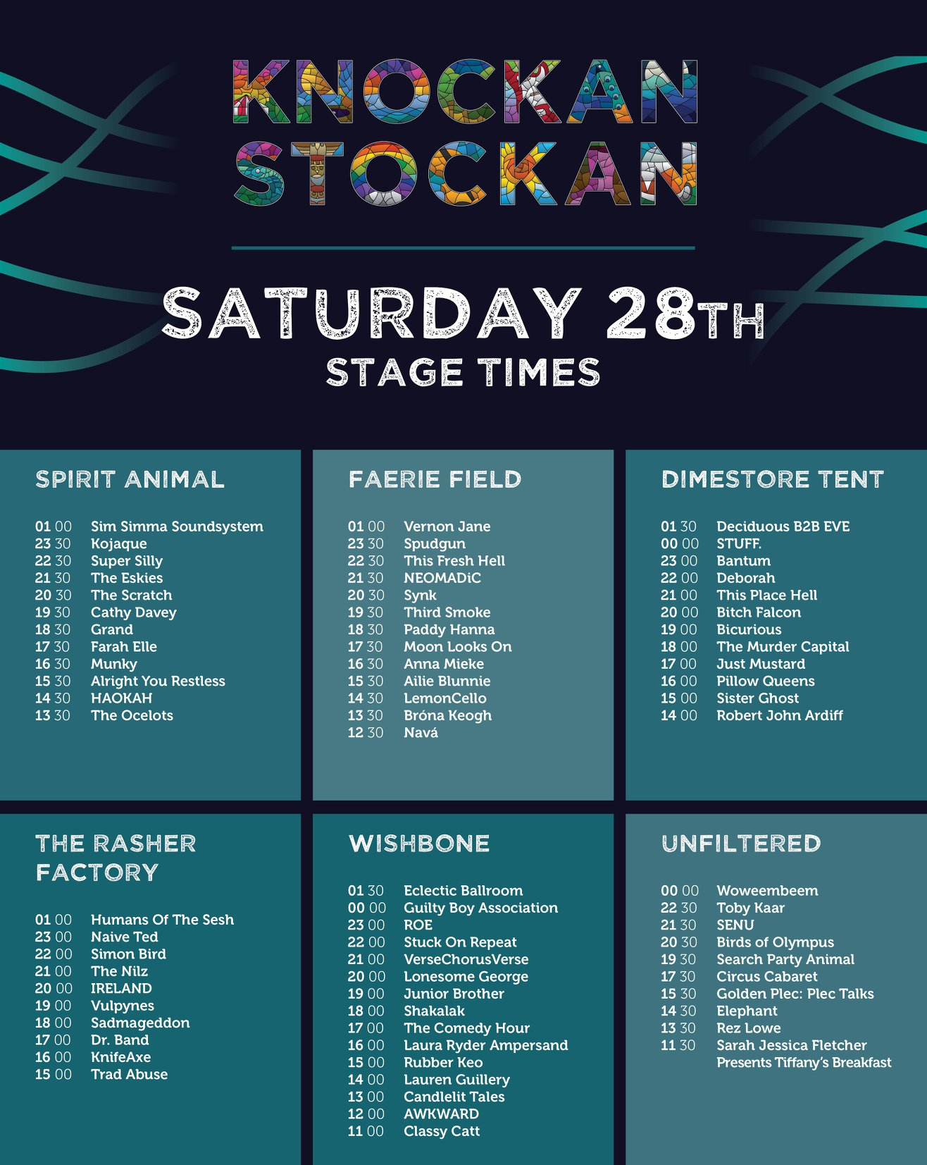 Knockanstockan 2018 stage times announced