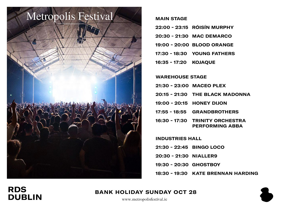 Metropolis 2018 Sunday Stage times announced