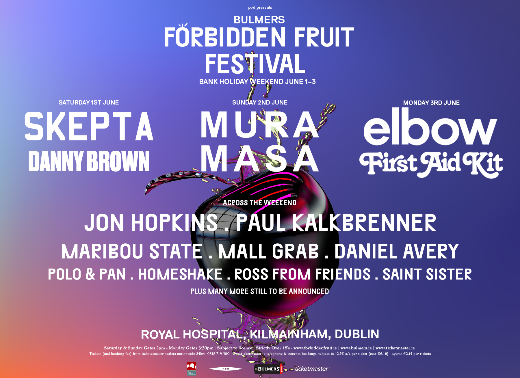 Forbidden Fruit 2019 | Skepta, Mura Masa, Elbow, Danny Brown, First Aid Kit & more announced for line-up