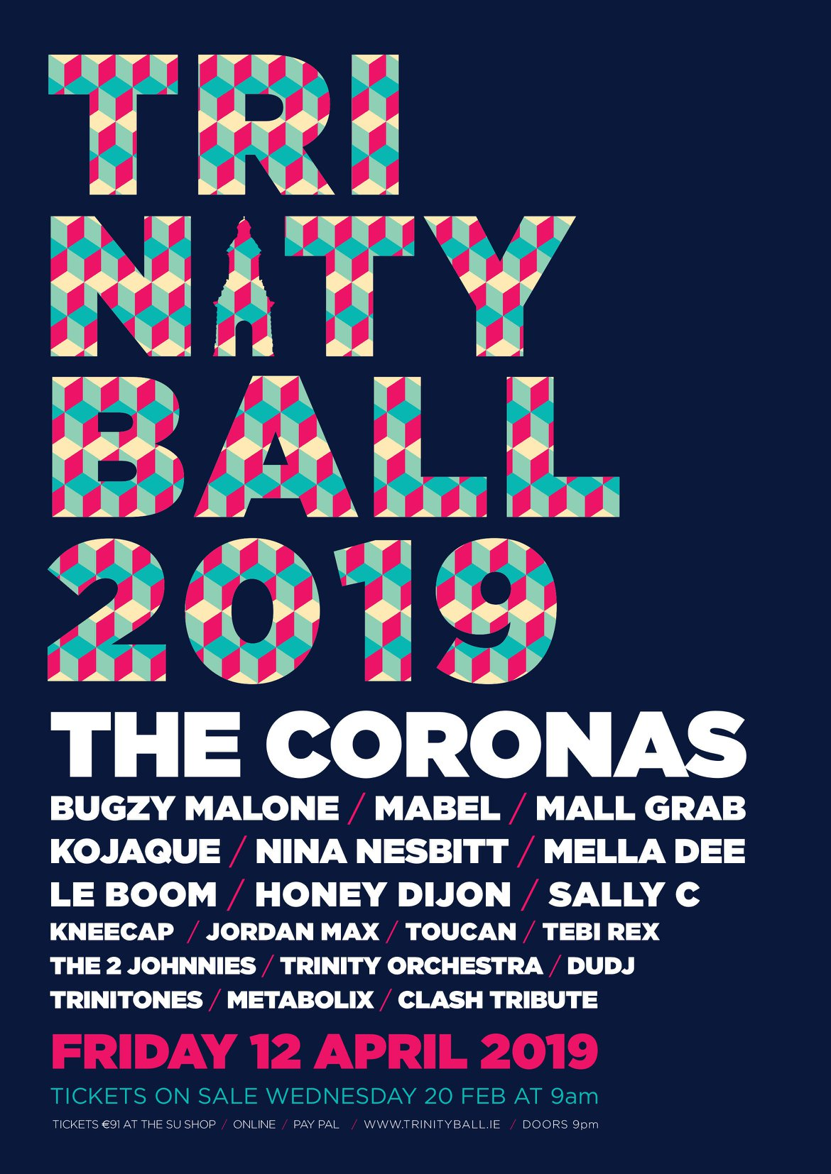 Trinity Ball 2019 Line Up Announced Including Mabel Tebi
