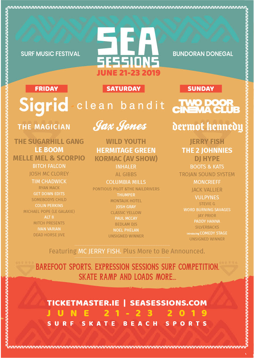 Sea Sessions 2019 | Dermot Kennedy and Day To Day Breakdown announced
