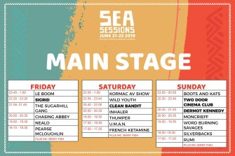 sea sessions 2019 main stage times