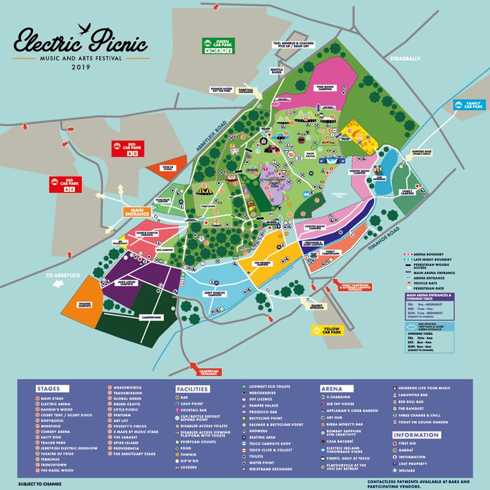 electric picnic 2019 site map