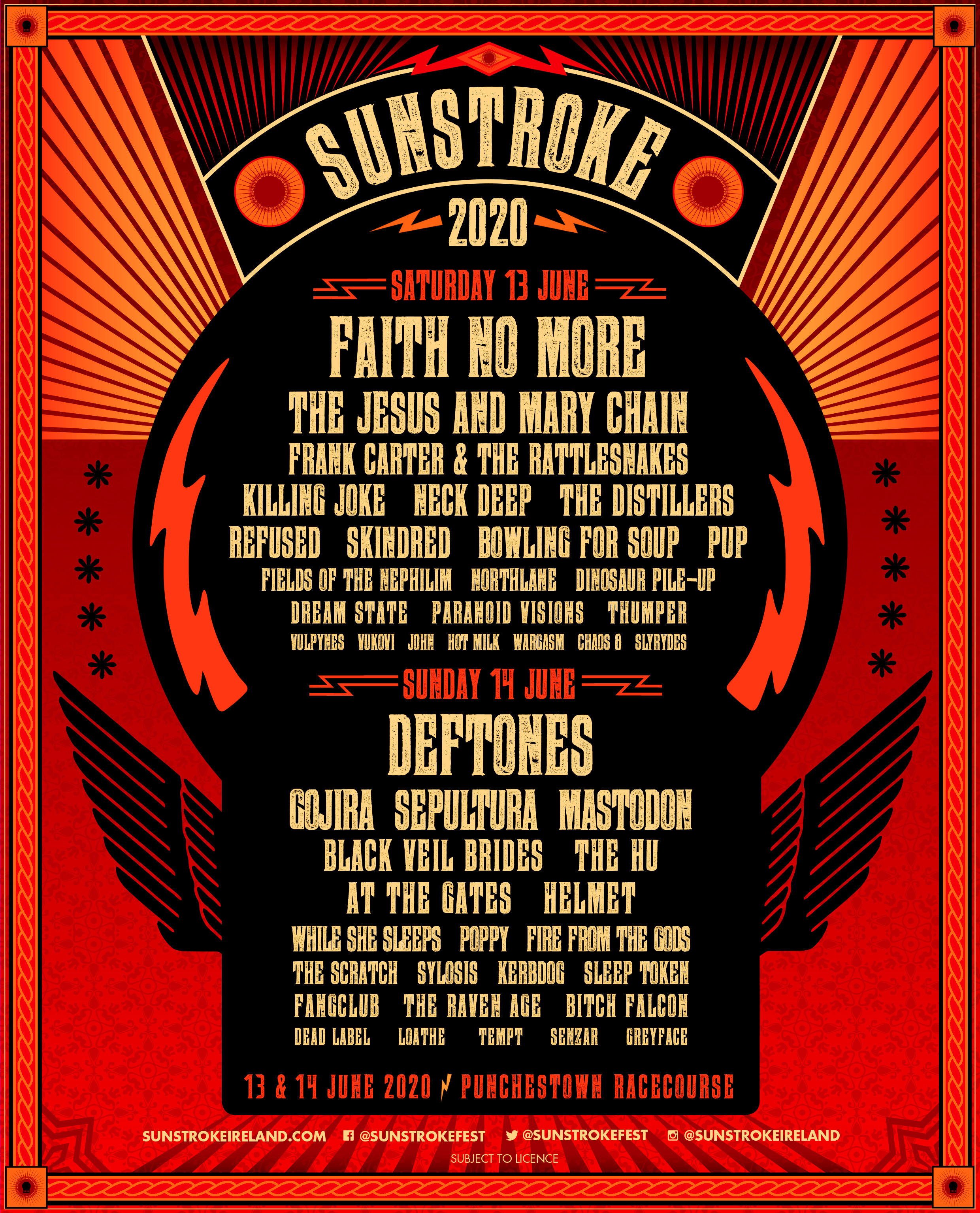 Sunstroke 2020 adds Mastodon, the Distillers, Kerbdog & more
