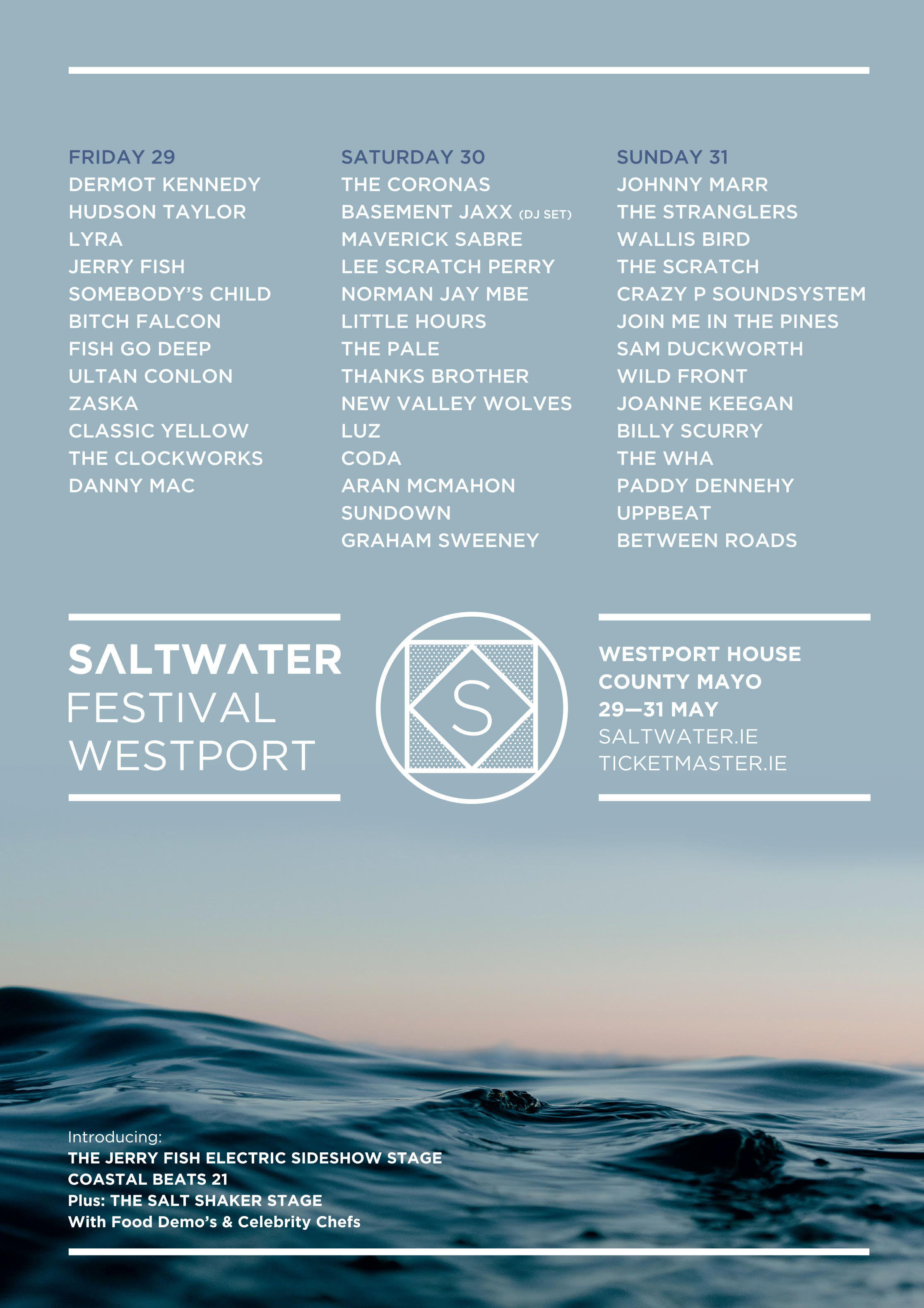 Saltwater 2020 adds new acts and announce daily breakdown