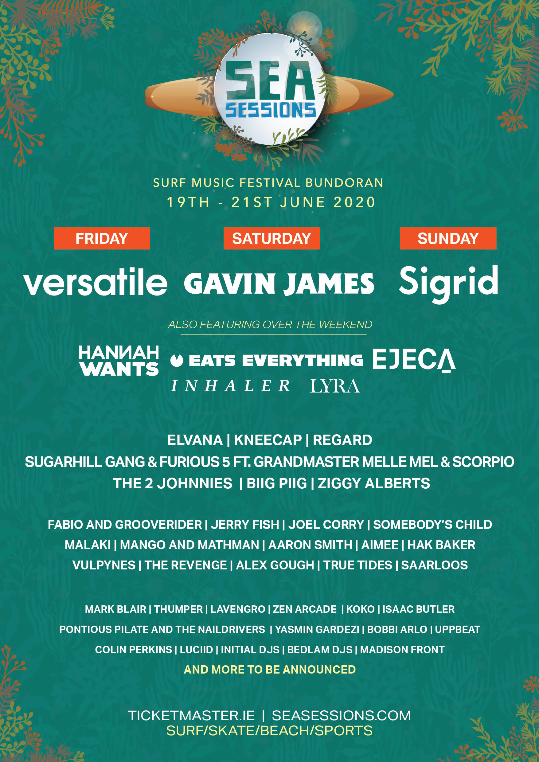 Sea Sessions 2020 announce new acts & daily headliner breakdown