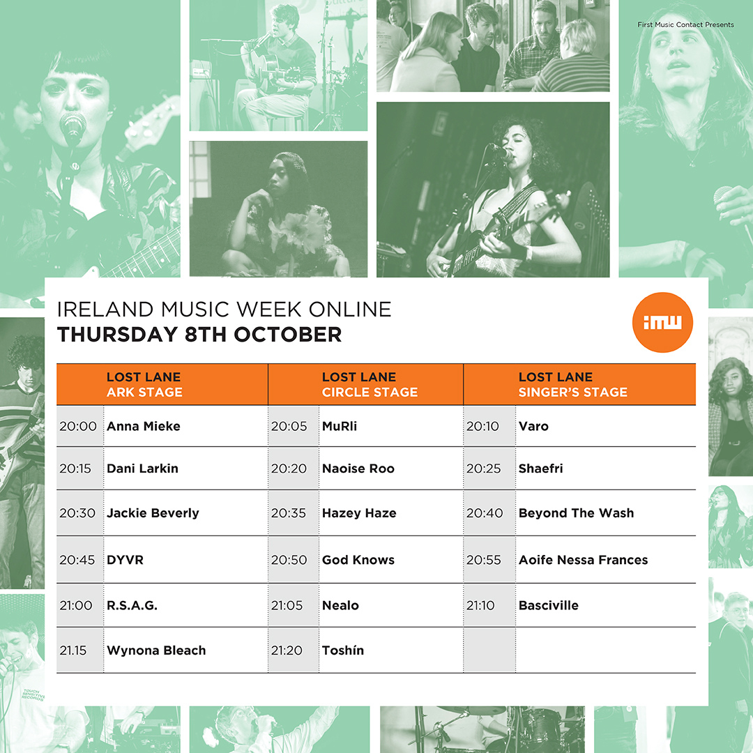 Ireland Music Week 2020 line-up online timetable announced
