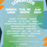 Longitude 2021 line-up announces Kendrick Lamar, Megan Thee Stallion & more